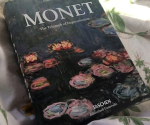 art, monet, and book image