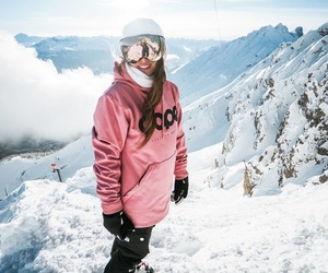 cold, girl, and mountain image
