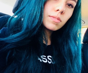 blue hair, hair, and turquoise image