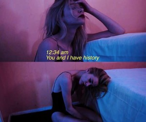 broken, girl, and night image