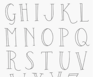 Letter, abecedario, and lettering image
