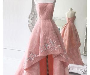 a-line, embroidery, and lace image
