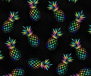 pineapple, background, and colours image