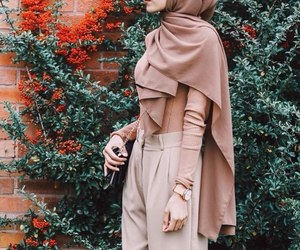 brown, hijab, and marron image