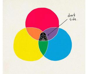dark side, star wars, and darth vader image