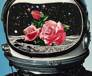 floral, space, and vintage image