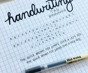 handwriting, study, and writing image