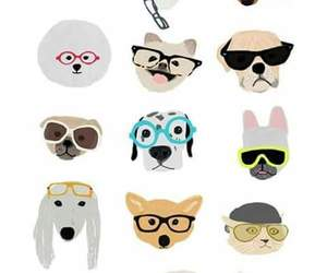 dog, lentes, and pantalla image
