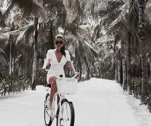 bike, white vogue, and bikes image