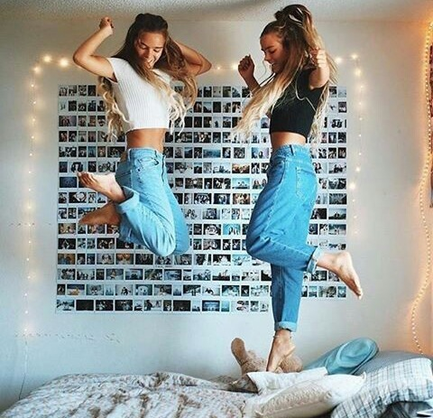best friend, fun, and girl image