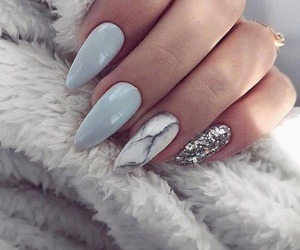 nails, beauty, and marble image