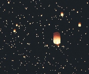 black, dark, and lanterns image