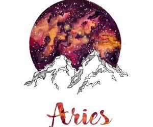 aries, zodiac, and stars image