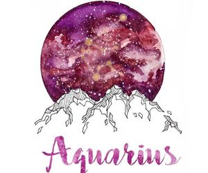 aquarius, zodiac, and drawing image