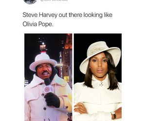 funny, scandal, and steve harvey image