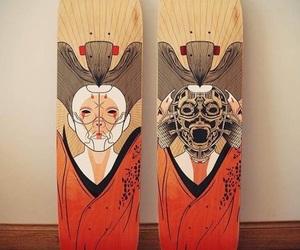 cyborg, draw, and geisha image