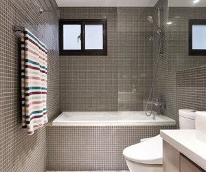 bathroom, modern design, and home decor image