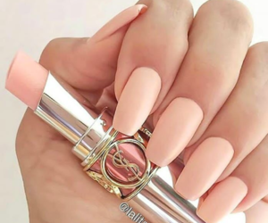 nails, lipstick, and pink image