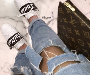 shoes sneakers, fashion style, and sac bag bags image