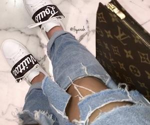shoes sneakers, basket footwear, and sac bag bags image