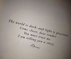 book, light, and quotes image