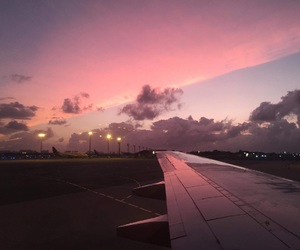 plane, pretty, and sky image