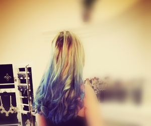 blau, crazy, and hair image