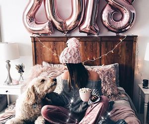 2018, girl, and balloons image
