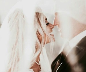 kiss and wedding image