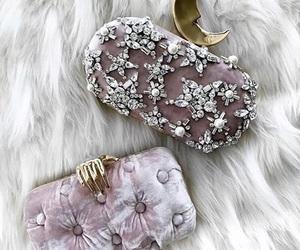 bag, moon, and pink image