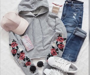outfit, outfit ideas, and roses image