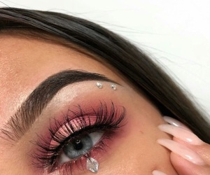 beauty, long lashes, and makeup goals image