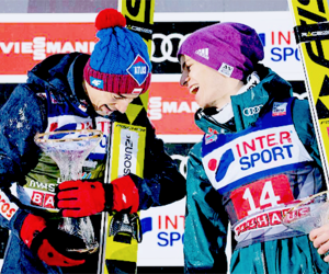 ski jumping, kamil stoch, and andreas wellinger image