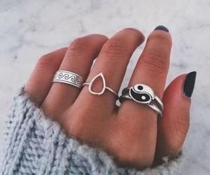 hand, nails, and rings image