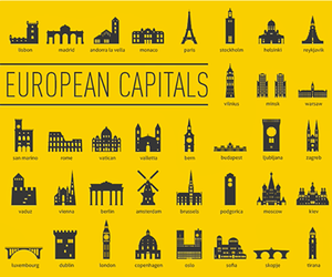 capital, city, and icon image