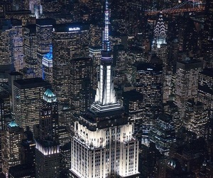 building, city, and empire state building image