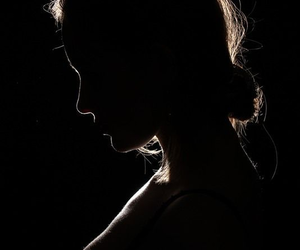 dark, black, and woman image