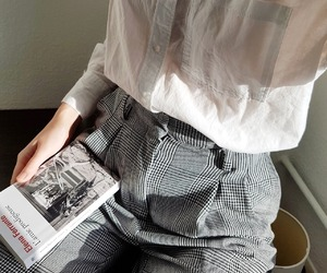 minimalism, newspaper, and retro image