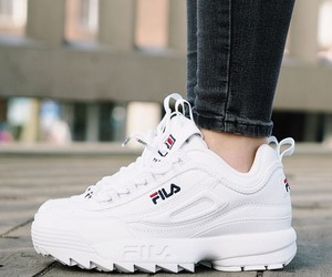 shoes, Fila, and white image