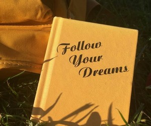 yellow, Dream, and book image