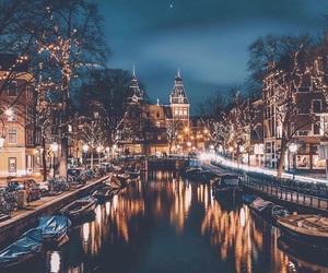 amsterdam, christmas, and city image
