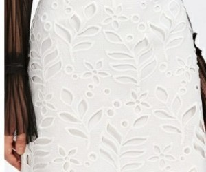 blanco, falda, and shein image