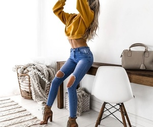 girl, hair, and heels image