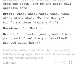 couple, dramione, and draco and hermione image