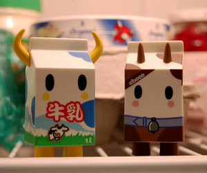 milk, cute, and chocolate image