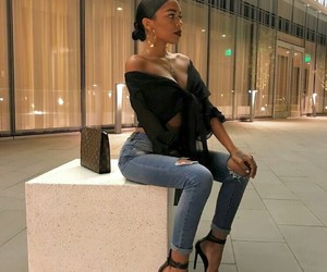 heels, outfit, and style image