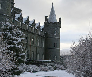 castle, winter, and grey image