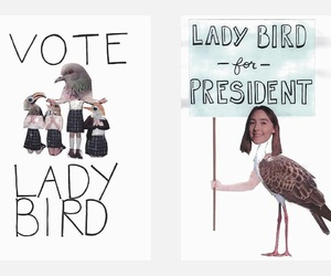 art, lady bird, and poster image