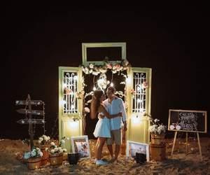album, couple, and cuddle image