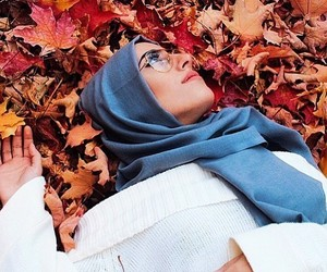 autumn, hijab, and photography image